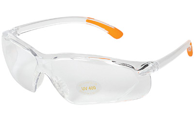ALLEN SHOOTING GLASS CLEAR W/ORANGE - for sale