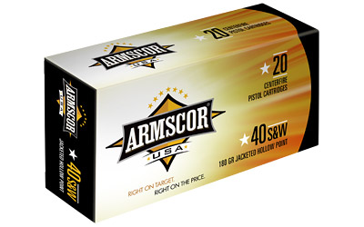 ARMSCOR 40S&W 180GR JHP 20/500 - for sale