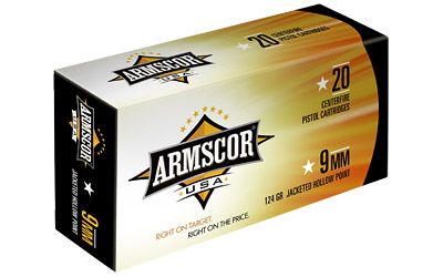 ARMSCOR 9MM 124GR JHP 20/500 - for sale