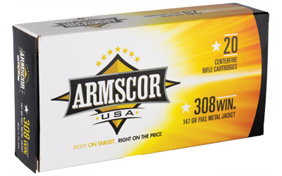 ARMSCOR 308WIN 147GR FMJ 20/200 - for sale