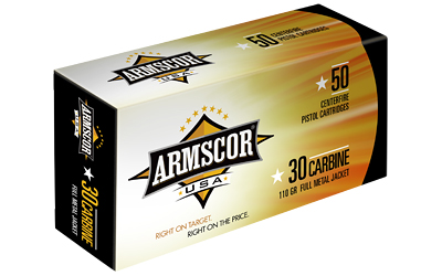 ARMSCOR 30CARB 110GR FMJ 50/1000 - for sale