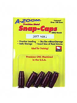 AZOOM SNAP CAPS 357SIG 5/PK - for sale