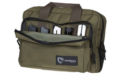 DRAGO GEAR DOUBLE PISTOL CASE GRN - for sale