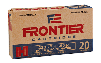 FRONTIER 223REM 55GR HP MATCH 20/500 - for sale