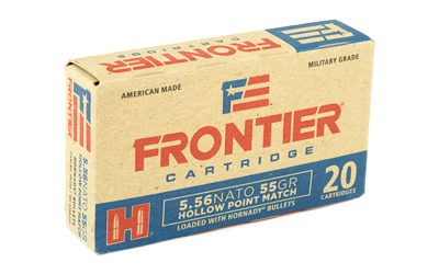 FRONTIER 556NATO 55GR HP MTCH 20/500 - for sale