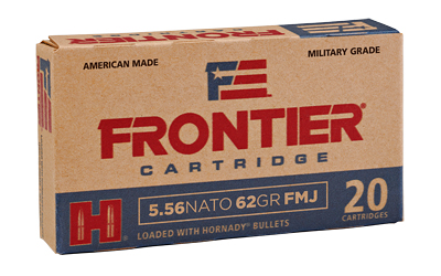 FRONTIER 556NATO 62GR FMJ 20/500 - for sale