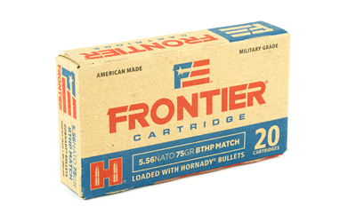 FRONTIER 556NATO 75GR BTHP MTCH 20/5 - for sale