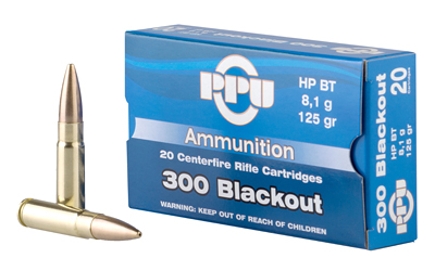 PPU 300BLK FMJ 125GR 20/1000 - for sale