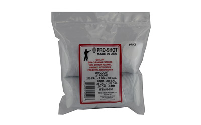 Pro-Shot - Cleaning Patches - CLEANING PATCHES 2IN RD 250CT for sale