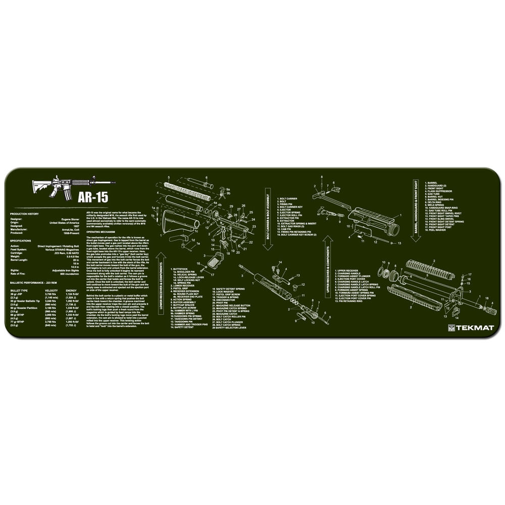 Tekmat - AR-15 - TEKMAT AR15 OLIVE DRAB - 12X36IN for sale